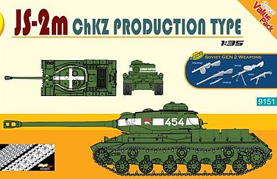 DML JS2-2m ChZK Production Type Tank Plastic Model Military Vehicle Kit 1/35 Scale #9151