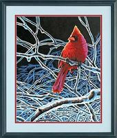 Dimensions Ice Cardinal Paint By Number Kit #73-91432