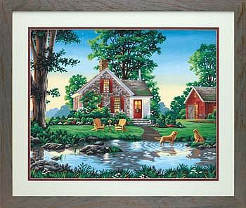 Dimensions Summer Cottage -- Paint By Number Kit -- #73-91433