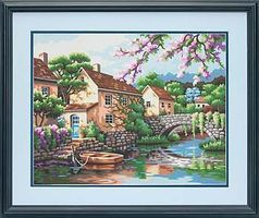 Dimensions Village Canal Paint By Number Kit #73-91440