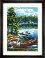 Dimensions Canoe By The Lake Paint By Number Kit #73-91446
