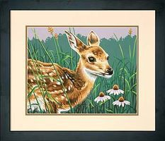 Dimensions Fawn And Flowers Paint By Number Kit #73-91447