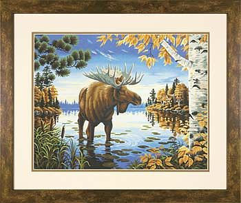 Dimensions Majestic Moose -- Paint By Number Kit -- #73-91453