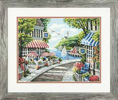 Dimensions Cafe By The Sea Paint By Number Kit #73-91455