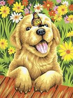 Puppy Gardener Paint By Number Kit #73-91457