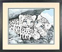 Dimensions Snow Leopard Cubs Paint By Number Kit #91079