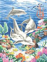 Dimensions Dolphins in the Sea Pencil By Number Kit #91112