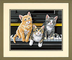 Dimensions Musical Trio (Cats/Piano) Paint By Number Kit #91144