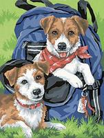 Dimensions Back Pack Buddies (Dogs) Paint By Number Kit #91150