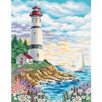 Dimensions Lighthouse/Sunrise Paint By Number Kit #91164