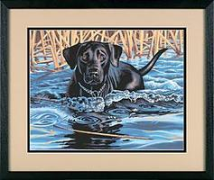 Dimensions Cold Water, Warm Heart (Dog/Water) Paint By Number Kit #91210
