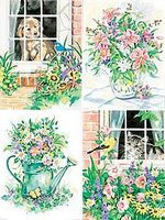 Dimensions Flower & Pets Variety (4 Pack) Paint By Number Kit #91219