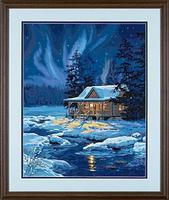 Dimensions Moonlit Cabin Paint By Number Kit #91223