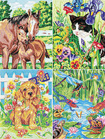 Dimensions Animal Friends Variety (4 Pack) Pencil by Number Kit #91274