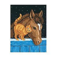 Dimensions Pony & Kitten Paint By Number Kit #91305