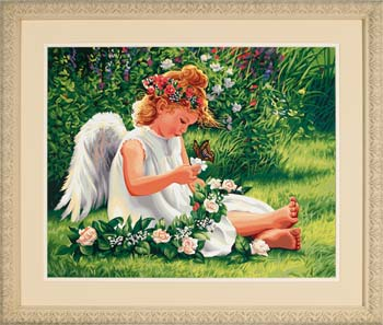Dimensions Darling Angel -- Paint By Number Kit -- #91312