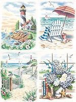 Beach Scenes Variety (4 Pack) Pencil by Number Kit #91331