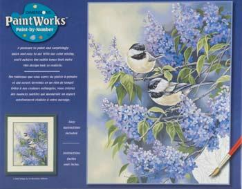 Dimensions Chickadees & Lilac -- Paint By Number Kit -- #91361