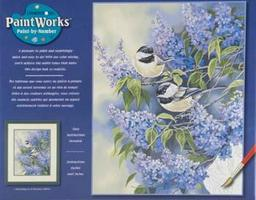 Dimensions Chickadees & Lilac Paint By Number Kit #91361