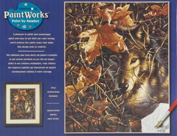 Dimensions Autumn Wolf Paint By Number Kit #91362
