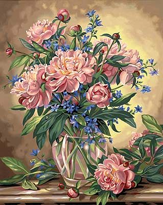 Dimensions Peony Floral -- Paint By Number Kit -- #91382