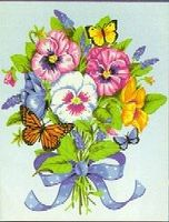 Pansy Bouquet Paint By Number Kit #91394