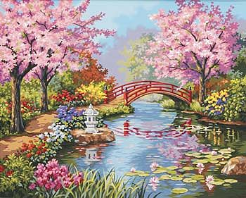 Dimensions Japanese Garden -- Paint By Number Kit -- #91415