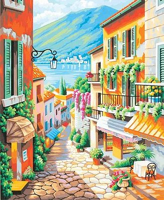 Dimensions Village Steps Paint By Number Kit #91466