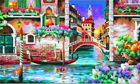 Dimensions Isnt it Romantic (Venice, Italy) Paint By Number Kit #91493