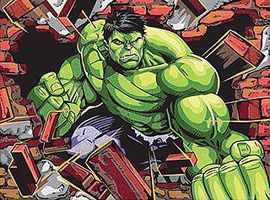 Hulk (Super Hero) Pencil By Number Kit #91499