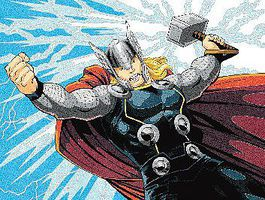 Thor (Super Hero) Pencil By Number Kit #91500