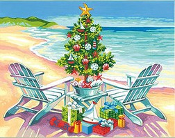 Dimensions Christmas on the Beach (14''x11'') Paint By Number Kit #91616