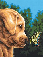Dimensions Newfound Friends Dog & Butterfly) Paint by Number (9x12)