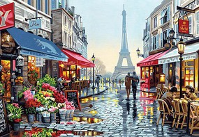 Dimensions Paris Flower Shop Paint by Number (20''x14'') Paint By Number Kit #91651