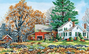 Precious Days (Country Farm Home) Paint by Number (20''x12'')
