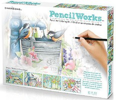 Dimensions Garden Blooms Variety Pack Pencil by Number (4 9x12)