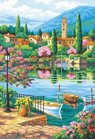 Dimensions Village Lake Afternoon Paint by Number (14x20)