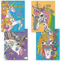 Dimensions Unicorn Magic Variety Pack (4 9''x12'') Paint By Number Kit #91673