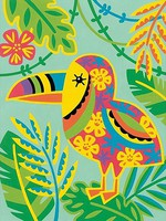 Dimensions Toucan (Whimsical Pattern)(9''x12'') Paint By Number Kit #91680