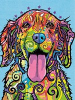 Dimensions Colorful Dog Pencil by Number (9''x12'')