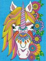 Dimensions Floral Unicorn Pencil by Number (9''x12'')