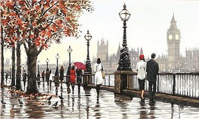 Dimensions Thames View (England River) Paint by Number (20''x14'')