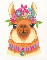 Dimensions Flowery Llama Paint by Number (8''x10'')