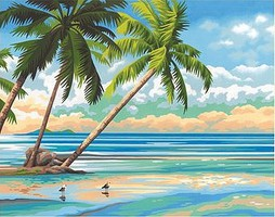 Dimensions Tropical View Paint by Number (14''x11'')