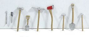 Durango Assorted Tools (Unpainted)(8) HO Scale Model Railroad Building Accessory #139