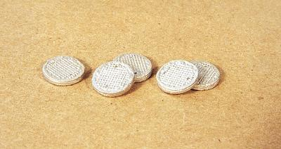 Durango Manhole Covers pkg(5) HO Scale Model Railroad Road Accessory #83