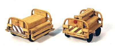 Durango Crew Cars pkg(2) HO Scale Model Railroad Building Accessory #89