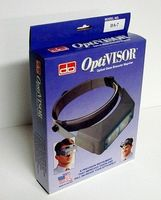 Donegan-Optical OptiVisor Glass Lens Binocular Headband Magnifier w/Lens Plate 2-3/4x Power at 6''