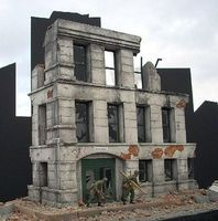DioramasPlus Ruined Small 3-Story Government Building Plaster Model Building Kit 1/35 Scale #2
