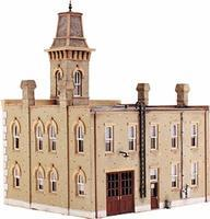 Design-Preservation Fire Station No. 3 Kit (6-3/4 x 5-13/16) HO Scale Model Railroad Building #12400